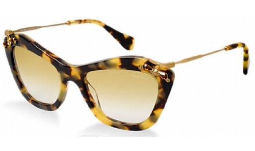 Miu Miu 03PS 7S09S1 Tortoise 03PS Glow Cats Eyes Sunglasses Lens Category - Sunglasses Miu Miu Tortoise Cat Eye