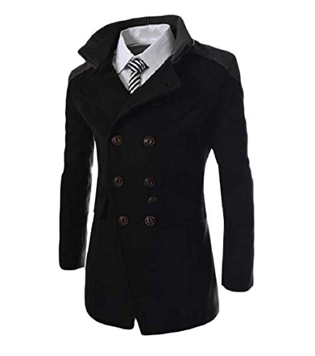 Turn Black Howme Collar Business Double Coat Men Jacket Down Trench Breasted 5vPaP
