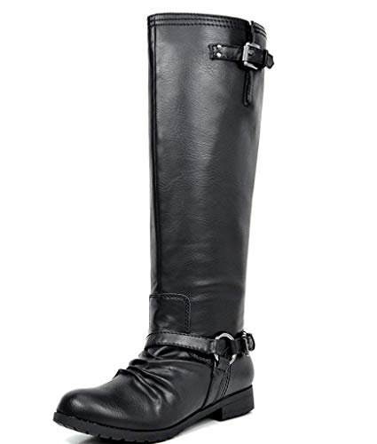 - TOETOS Women's ARIAZ Black Knee High Riding Boots - 8.5 M US