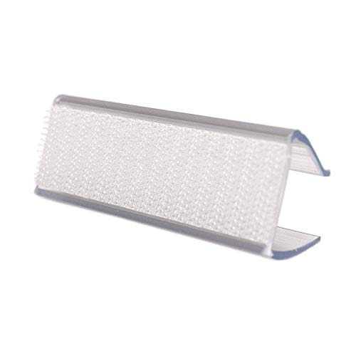 TableLinensforLess Clear Table Skirting Clips (Y) for 1/2in to 3/4in Table Edge - 100 Pack