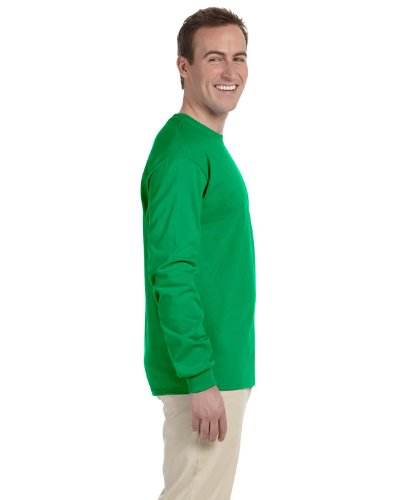 UPC 643618749222, Gildan Adult L/S T-Shirt in Irish Green - Large