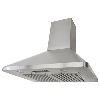 "Brillia 30"" 680 CFM Ducted Wall Mounted Range Hood Height: 56.2"""