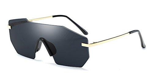 TIJN Sleek Rimless Shield Futuristic Sunglasses for - Shield Sunglasses Rimless