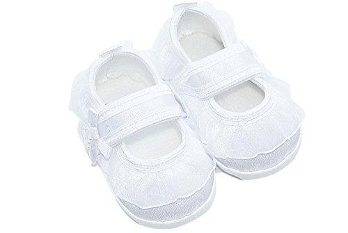 Babyschuhe mit Spitze weiß Größe 12