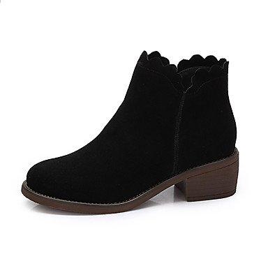 Mujer Cuero 5 Caqui De CN38 Casual 5 RTRY Otoño De Nubuck Moda Zapatos Negro Botas Botas For De UK5 US7 Invierno EU38 q1EOwRnOIW