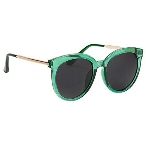 1bbc6ead7e MagiDeal Lunettes de Soleil Style Vintage Rétro avec Monture Verres  Transparentes Colorées Contre Dommage Soleil Vert