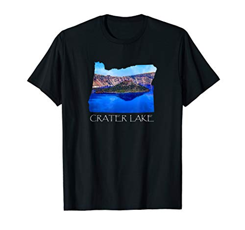 Crater Lake National Park Photo in Oregon State Souvenir Tee