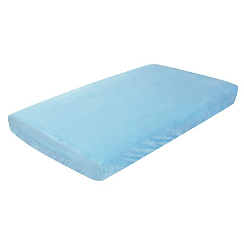 Luxe Basics So Softy Fitted Crib Sheet, Turquoise (Best Chairs Inc Glider Rocker compare prices)