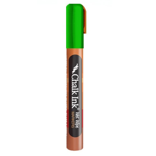 Chalk Ink Metallic Wet Wipe Marker, 6 mm, Beetle Bug Green ()