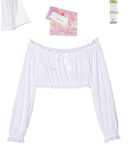 Dreamgirl Pretty and Peasant Dress, White,