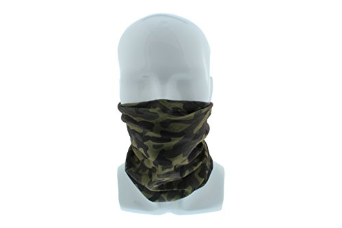 RC Woodland Camo Skull Motorcycle Paintball Seamless Tube Facemask Headwear