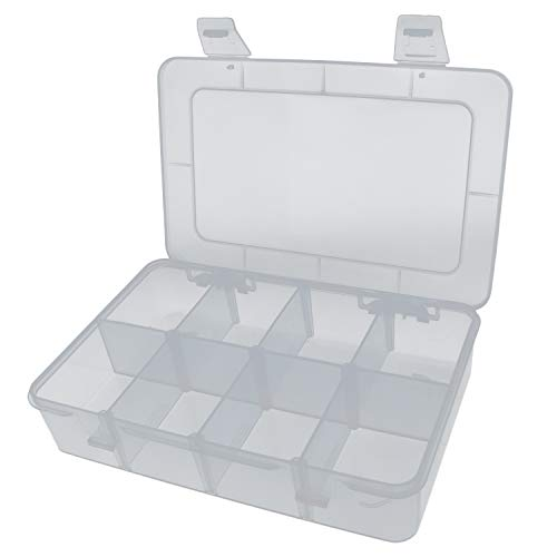 Yootop 8 Compartments Hard Plastic Case with Removable Dividers for Electronics Jewelry Small - Divider Removable