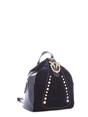 Velluto Blu perle dos à Sacs Pinko Bleu Battistelli Backpack Iride a1qwxER