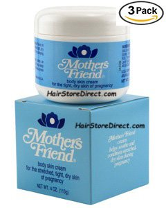 Mothers Friend Body Skin Cream 4 oz (Pack of 3) (Mother Friend)