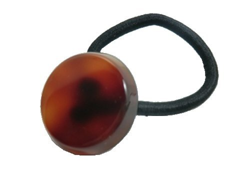 - Charles J. Wahba Mini Circle Ponytail Holder - Tortoise Color from FRANCE