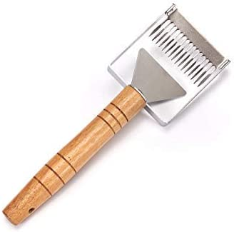 Thick Handle Uncapping Fork Cut Scratcher Bee Honey Sparse Rake Shovel Tool WE