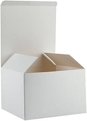 RUSPEPA Cajas De Regalo De Cartón Reciclado - Cajas De Regalo para Regalo con Tapas A Granel - 15.5X15.5X10.5 Cm ...