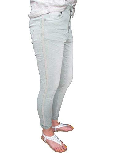 Larghi Galonstreifen Jewelly Pietre Strass Con L 40 By Donna Lexxury Bottoni Ragazzo Jeans Aperto U6x6AFY