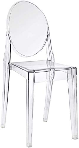 Modway Casper Modern Acrylic Stacking Kitchen and Dining Room Chair
