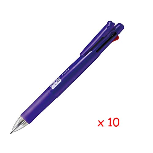 Zebra B4SA1 Clip-on multi F 0.7mm Multifunctional Pen (10pcs) - Violet (with Free 5-Color Sticky Notes)