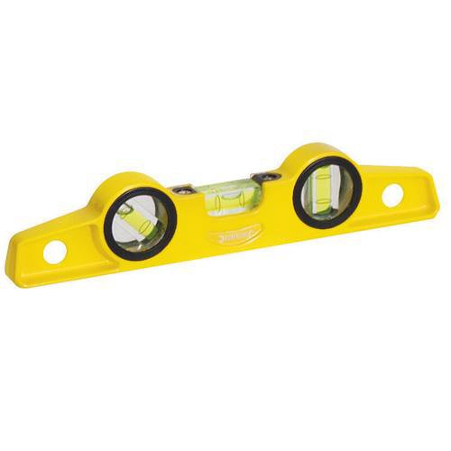 250mm Scaffolders Spirit Boat Level - Magnetic, 3 Vial, Hands Free [Misc.]