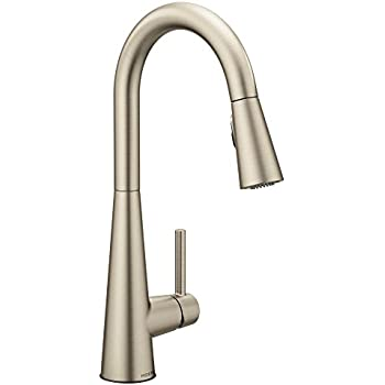 Moen 87350ESRS One-Handle High Arc Pulldown Kitchen Faucet, Spot ...