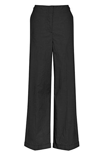 next Mujer Pantalones De Algodón Pierna Ancha Estilo De Oficina Ejecutivo Negro