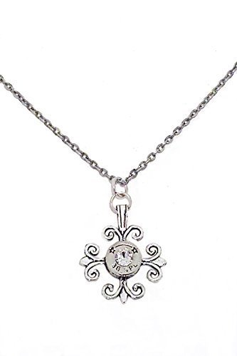 Silver Gothic Cross with 38 Special Recycled Bullet Gun Ammo Casing Statement Chain Necklace for Her