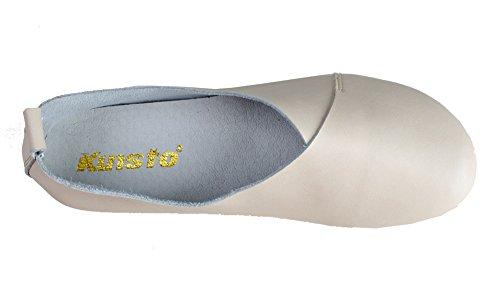 Kunsto Kvinna Äkta Läder Komfort Handske Skor Balett Platt (upp Till 55% Rabatt) Beige