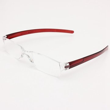 4afc4bac548 Lightweight Red Rimless Resin Magnifying Reading Glasses Fatigue Relieve  Strength 1.0 1.5 2.0 2.5 3.0 (