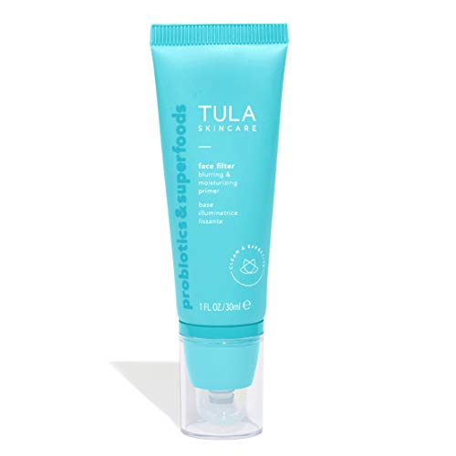 - TULA Probiotic Skin Care Face Filter Blurring and Moisturizing Primer | Smoothing Face Primer, Evens the Appearance of Skin Tone & Redness, Hydrates & Improves Makeup Wear | 1 fl. oz.
