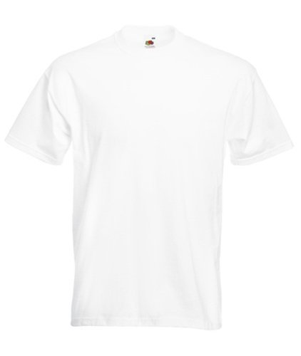 Fruit of the Loom Super Premium T-Shirt - White Medium by Fruit of the Loom