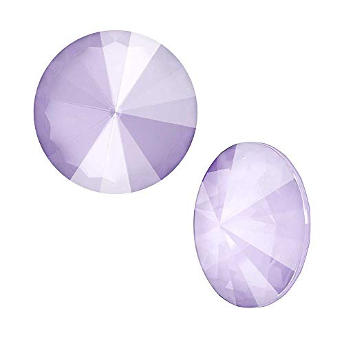 Swarovski Crystal, 1122 Rivoli Fancy Stones 14mm, 2 Pieces, Crystal Lilac