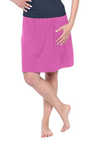 (Kosher Casual Women's Modest Knee-Length Swim & Sport Skirt with Built-in Shorts - Skort Style XXL Bubble Gum Pink)