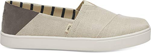TOMS Women's Lenox Sneakers Shoes (42-43 M EU / 12 B(M) US, Forged Iron Grey Monochrome Deconstructed Suede/Woven ()