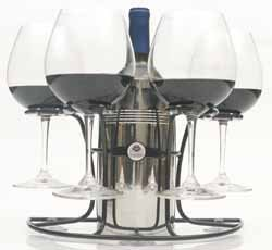 Wine Glass Wine Bottle Holder Suction Cup
