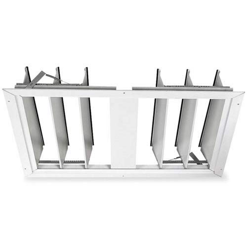 Dayton Fan Shutter 36 in White Painted Aluminum (Whole Vents House)