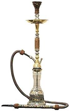N\C Juego Completo de cachimba Oxidado 33: Pipa Shisha de una Sola Manguera. Tubos de narguile egipcios Hechos a Mano. Estas Son Las cachimbas Tradicionales de Heavy Tri Metal.