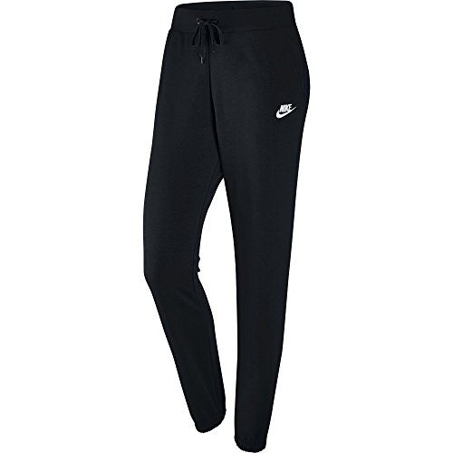 Womens Vintage Fleece Pants - NIKE Women's Sportswear Loose Fleece Pants, Black/Black/White, Small