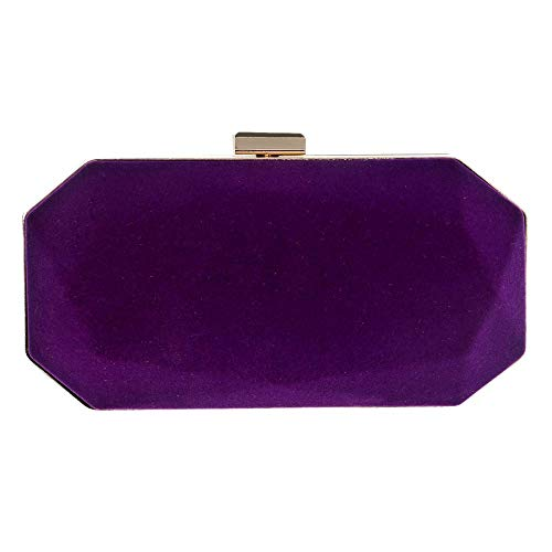 Bolso 20 Terciopelo Bolsa 5cm Mujer 6 Para 10 5 Bolsos color Hombro De Black Noche Tamaño Purple qwPxPEpC