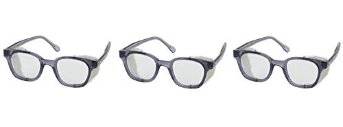- Bouton 249-5907-400 5900 Traditional Eyewear with Smoke Propionate Full Frame and Clear Anti-Scratch/Fog Lens (Thrее Рack)