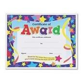 TREND Certificate,Award,Star,30PK