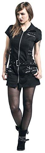H&R London Vestido Negro Con Cremallera Vestido Negro Negro