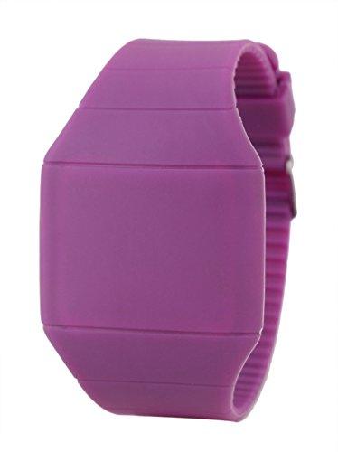 USPRO® Novel Fashion Touch screen Ultrathin slim Plastic LED Light Watch (Purple)
