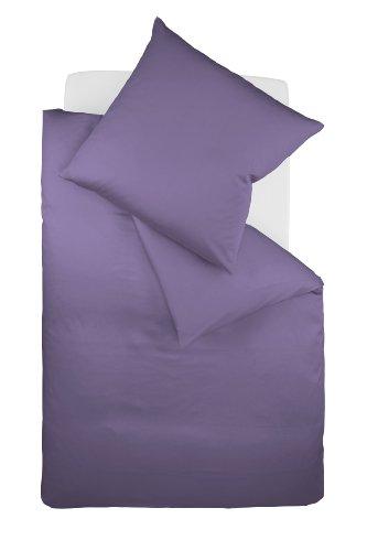 fleuresse Colours Uni-Mako-Satin-Bettwäsche 135/200 + 80/80 mit Reißverschluss