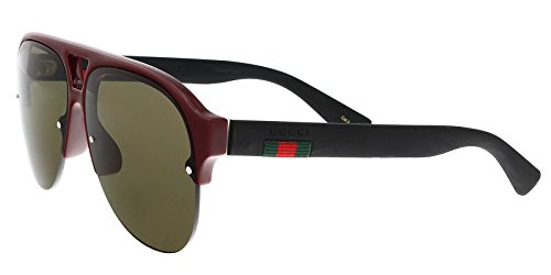 GUCCI GG0170S 004 Burgundy/Matte Black Pilot - Sale For Gucci Sunglasses