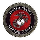 Fashion Mouse Mat United States Marine Corps Logo Customized Round Mousepad by Mouse Pads