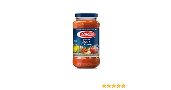 Amazon.com : Barilla Pasta Sauce, Flavored with Meat 24 Oz (Pack of 3) : Grocery & Gourmet Food