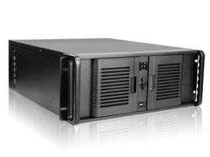 iStarUSA Rack Mount D-407P-80R3N 4U Compact Stylish Rackmount Chassis with 800W Redundant Power Supply Brown Box
