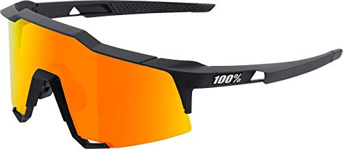 100% Speedcraft Soft Tact Black HiPER Red Multilayer Mirror Sunglasses Polycarbonate Grilamid TR90 Frame with 100% UV Protection ()
